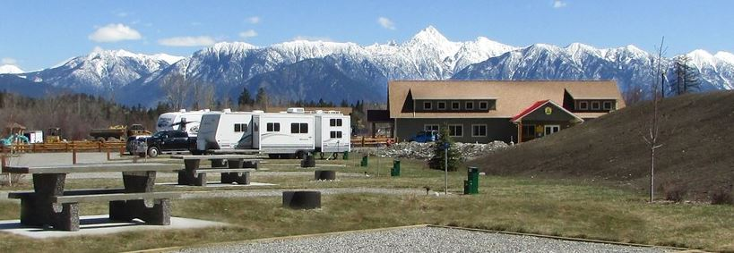 Camping in Cranbrook. Cranbrook/St.Eugene KOA campground, Cranbrook BC, Canada